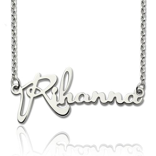 Personalisierte Promi -Name Halskette aus Sterling Silber