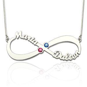 Infinity Halskette, kundenspezifische infinity Name Halskette