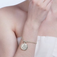 Disc Family Tree Bracelet