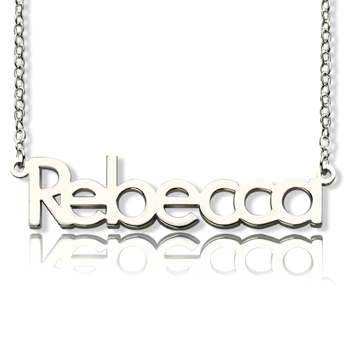 Kreieren Sie Ihren eigene Name Halskette aus Sterling Silber