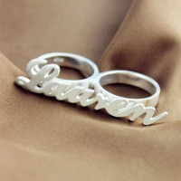 Silve Name Ring